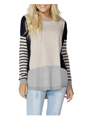 Sass - Melania Stripe Block Knit