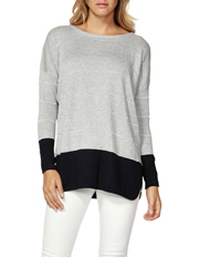 Haiden Colour Block Jumper (With Lurex stripe)
