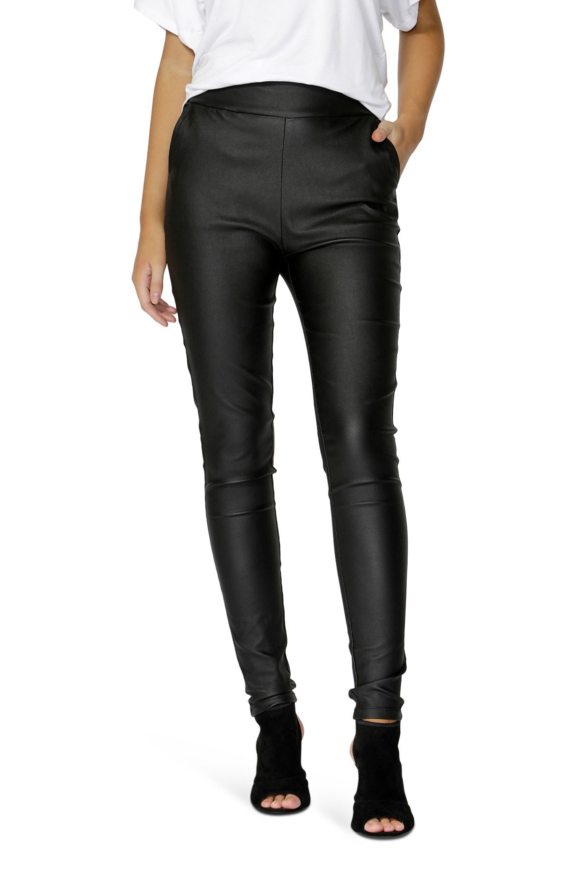 Leather look leggings myer