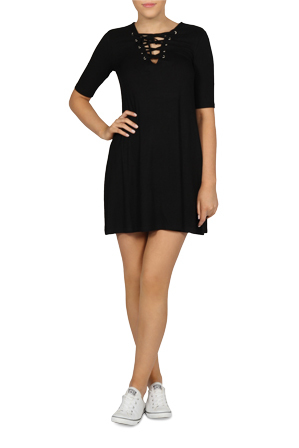 Sass - New Jersey Rib Dress
