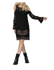 Sass - Indiana Floral Embroidered Dress