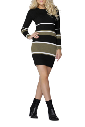Sass - Stripe Bodycon Dress