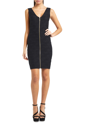 Lipsy - AG Zip Textured Bodycon Dress