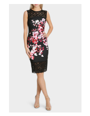 Lipsy - Floral Printed Lace Dress