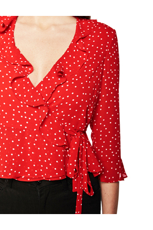 Bardot - Spotty Wrap Top