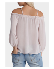 Glamorous - Cold Shoulder Pleat Top