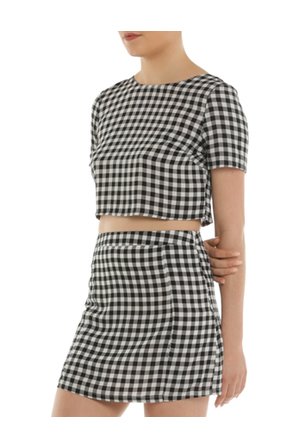 Glamorous - Gingham Tie Back Top