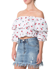 Glamorous - Off Shoulder Cherry Top