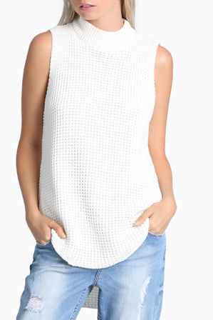 All About Eve - Angela Sleeveless Knit Jumper
