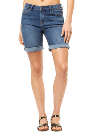 Riders By Lee - Knee Length Short Blue USA