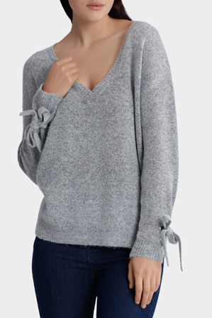 Milk & Honey - Eyelet Cuff Detail Jumper