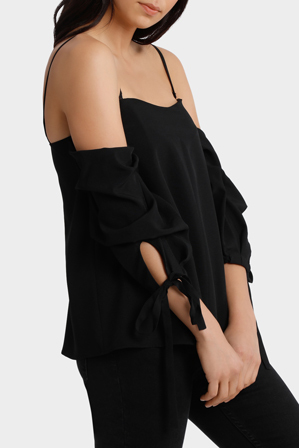 Milk & Honey - Off Shoulder Scrunch Me Top