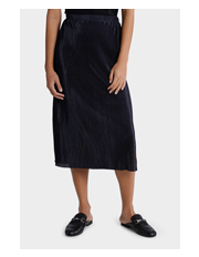 Micro Pleat Midi Skirt