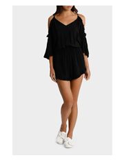 Cold Shoulder Ruffle Playsuit