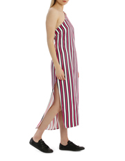 Milk & Honey - One Shoulder Stripe Dress