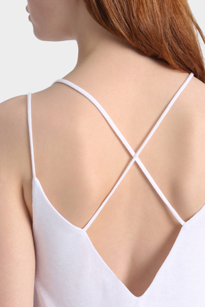 Miss Shop Essentials - Cross Back Double Layer Cami