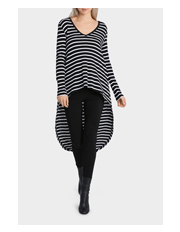 Miss Shop Essentials - Long Sleeve Rib Tail Hem Top