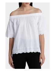 Miss Shop - White Off-the-Shoulder Top