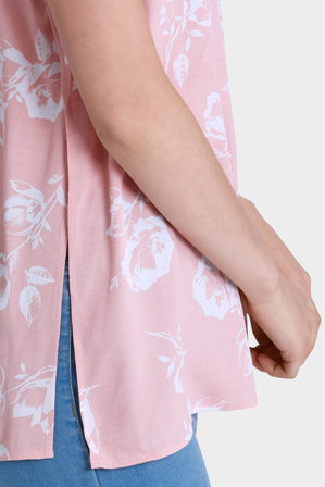 Miss Shop - Rose Floral Swing Sleeveless Top