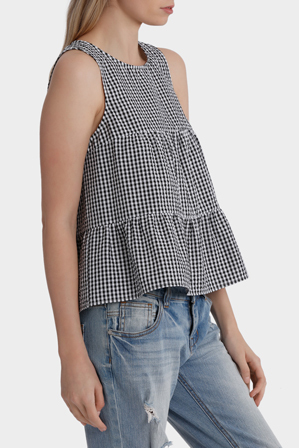 Miss Shop - Back Keyhole Tiered Top