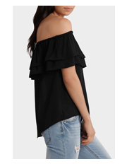Miss Shop - Double Ruffle Off Shoulder Top