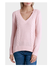 Miss Shop - Cable V Neck Knit