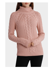 Miss Shop - Roll Neck Cable Knit