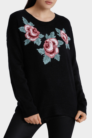 Miss Shop - Rose Floral Knit Jumper