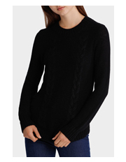 Miss Shop - Cable Round Neck Knit