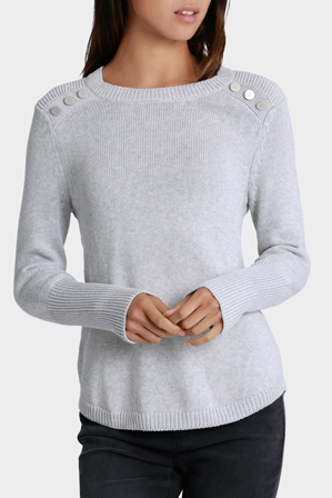 Miss Shop - Button Front Knit Top