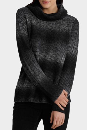 Miss Shop - Ombre Roll Neck Knit
