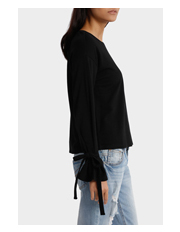 Miss Shop - Tie Sleeve Sweat