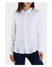 Miss Shop - Long Sleeve Ruffle Hem Shirt