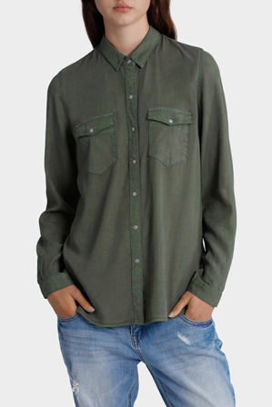 Miss Shop - Khaki Chambray Shirt