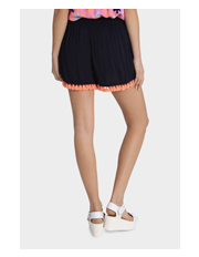 Miss Shop - Tassle Hem Shirred Waist Shorts