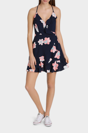 Miss Shop - Ruffle Wrap Strappy Dress