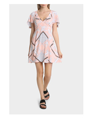 Miss Shop - Cape Sleeve Swing Dress