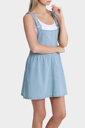 Miss Shop - Chambray Pinafore Dress