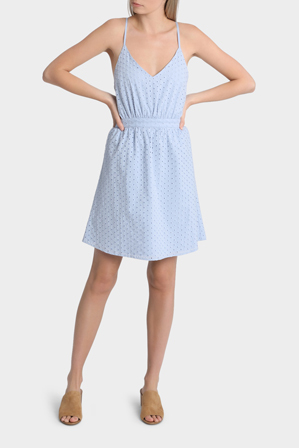 Miss Shop - Oval Spot Broderie Lace Dress