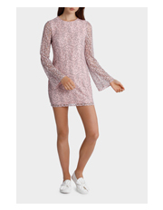 Miss Shop - Lace Bell Long Sleeve Dress