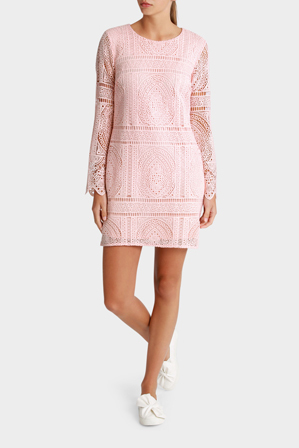 Miss Shop - Luxe Lace Bell Sleeve Dress