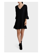 Miss Shop - Samantha Long Sleeve Tie Dress