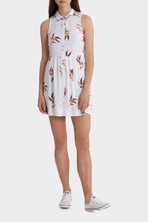 Miss Shop - White Base Margot Print Shirt Dress