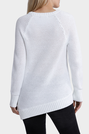 Miss Shop - Assymetrical Basket Weave Jumper