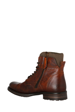 Windsor Smith - Mens Feverr Feverr - Cognac leather / canvas hiking Boot