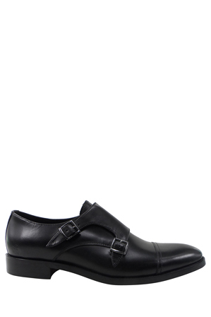 Jeff Banks - Grosvenor Leather Double Buckle Dress Shoe