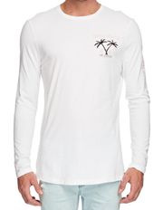 Mossimo - Palms Long Sleeve Longline Tee