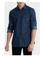 Maddox - Arkansas Denim Long Sleeve Shirt