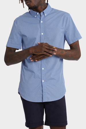 Kenji - Berkley Micro Print Short Sleeve Shirt