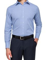 Van Heusen Euro - Blue Check Business Shirt